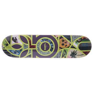 Дека для скейтборда  S5 Angel Melange 32 x 8.125 (20.6 см) Habitat. Цвет: фиолетовый,желтый,мультиколор