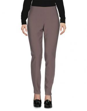 Повседневные брюки MALÌPARMI. Цвет: голубиный серый