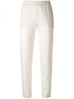Узкие повседневные брюки Le Tricot Perugia. Цвет: телесный