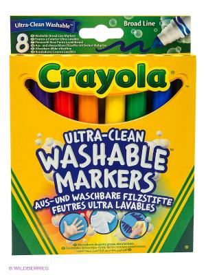 Смываемые фломастеры Супер чисто с толстым наконечником Crayola. Цвет: оранжевый, рыжий