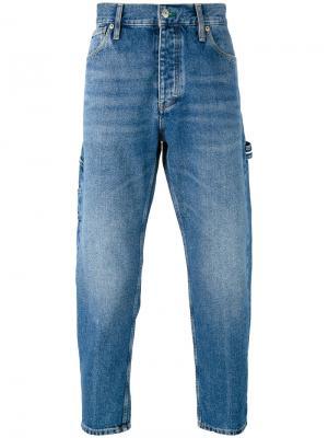 Укороченные джинсы Tommy Jeans. Цвет: синий