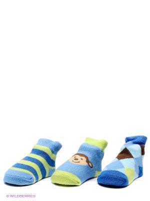Комплект Носочки Luvable Friends. Цвет: голубой