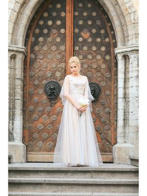 Платье Tavifa wedding fashion. Цвет: бежевый