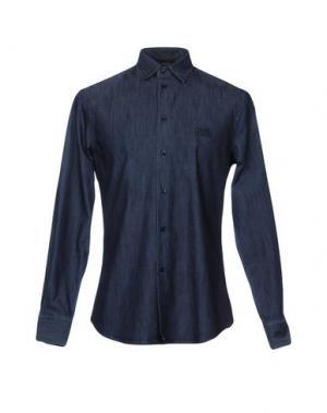 Джинсовая рубашка CLASS ROBERTO CAVALLI. Цвет: синий