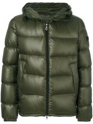Стеганая куртка Peuterey. Цвет: зелёный