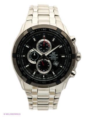 Часы EDIFICE EF-539D-1A CASIO. Цвет: черный, серебристый