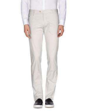 Повседневные брюки BERWICH. Цвет: светло-серый