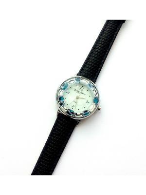 Часы Bottega Murano. Цвет: черный, голубой, серебристый