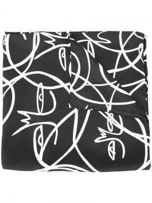 Платок с абстрактным узором Haculla. Цвет: чёрный