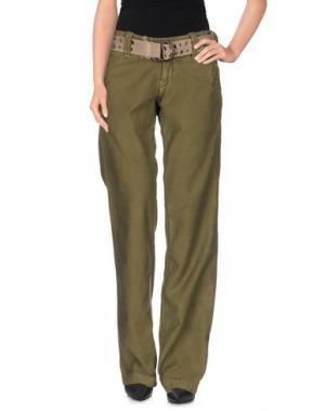 Повседневные брюки Z-BRAND. Цвет: зеленый-милитари