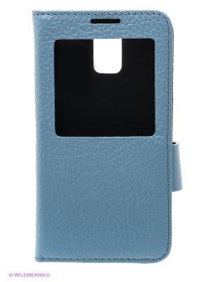 Чехол S - View на Samsung S5 Dimanche. Цвет: голубой