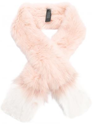 Fur scarf Yves Salomon Accessories. Цвет: розовый и фиолетовый