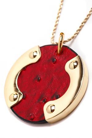 Кулон Beatrici Lux. Цвет: красный, золотой