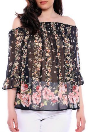 Блуза Moda di Chiara. Цвет: черный