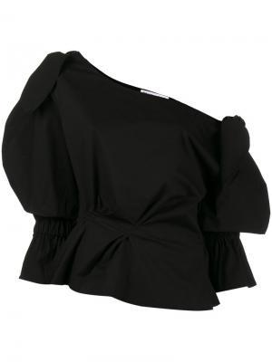Блузка с открытым плечом Michelle Rejina Pyo. Цвет: чёрный
