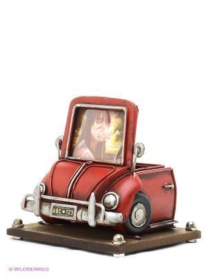 Фоторамка Автомобиль красный 2фото 8х8см PLATINUM quality. Цвет: красный