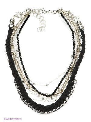 Ожерелье Модные истории. Цвет: черный, прозрачный, серебристый