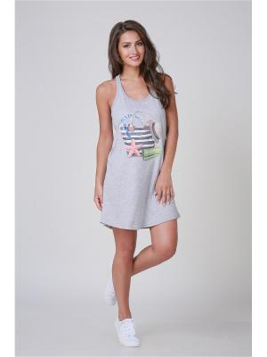 Ночная сорочка Pastilla. Цвет: серый меланж