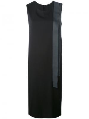 Платье шифт с аппликацией Fabiana Filippi. Цвет: чёрный