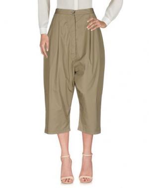 Повседневные брюки BACKGROUND. Цвет: зеленый-милитари