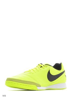 Кроссовки для зала TIEMPO GENIO II LEATHER IC Nike. Цвет: желтый