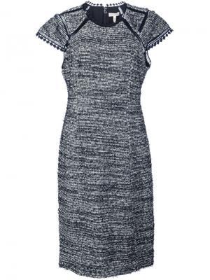 Платье с панельным дизайном Rebecca Taylor. Цвет: чёрный