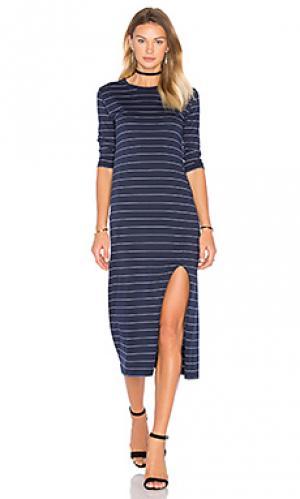 Макси платье reclaim Viktoria + Woods. Цвет: синий