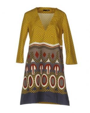 Короткое платье .TESSA. Цвет: охра