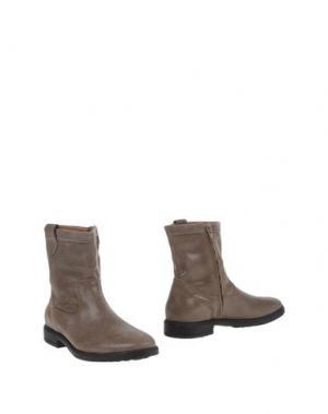 Полусапоги и высокие ботинки BISGAARD. Цвет: голубиный серый