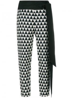 Укороченные брюки с принтом Chalayan. Цвет: чёрный