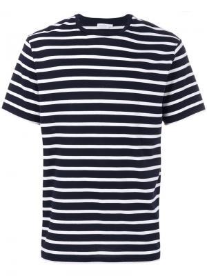 Полосатая футболка Sunspel. Цвет: синий