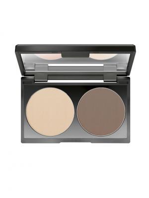 Контуринг-крем Duo Contouring Cream №16, оттенок розово-коричневый Make up factory. Цвет: коричневый, персиковый