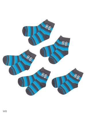 Носки детские (5 пар) HOSIERY. Цвет: серый, синий