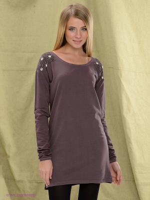 Платье Blend. Цвет: коричневый