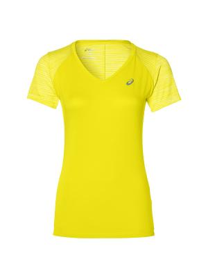 Футболка fuzeX V-NECK SS TOP ASICS. Цвет: желтый