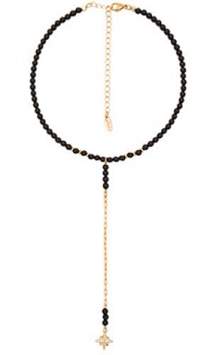 Ожерелье Ettika. Цвет: черный