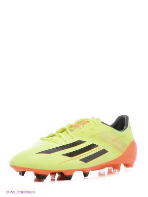 Бутсы Adidas. Цвет: салатовый
