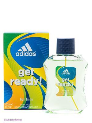 Туалетная вода adidas get ready для мужчин 100мл. Цвет: прозрачный