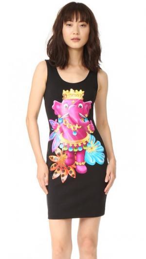 Платье без рукавов Moschino. Цвет: черный фантазийный принт