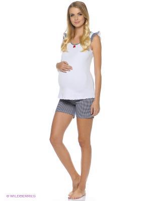 Домашний костюм для беременных ФЭСТ. Цвет: белый