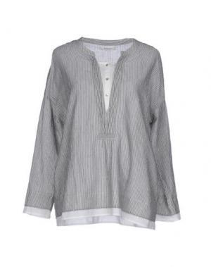 Блузка BELLA JONES. Цвет: серый