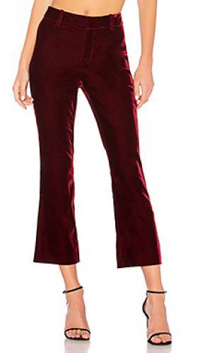 Укороченные расклешенные брюки DEREK LAM 10 CROSBY. Цвет: красное вино