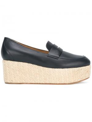 Platform penny loafers Gabriela Hearst. Цвет: синий