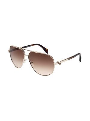 Солнцезащитные очки Alexander McQueen. Цвет: золотистый