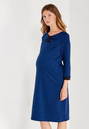 Платье 40 недель. Цвет: синий
