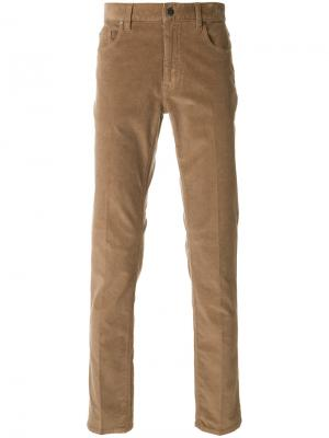 Прямые брюки Z Zegna. Цвет: коричневый