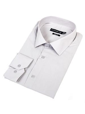 Рубашка Favourite. Цвет: светло-серый