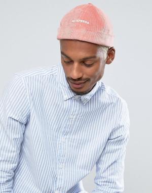ASOS Розовая вельветовая кепка с вышивкой Docker. Цвет: розовый