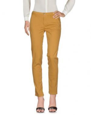 Повседневные брюки SEVEN7. Цвет: охра