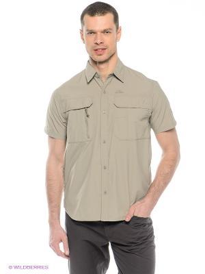 Рубашка с защитой от комаров Trespass. Цвет: темно-бежевый